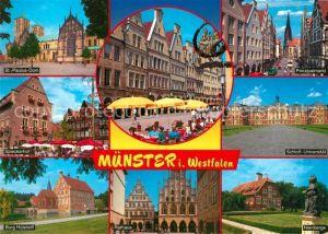 AK / Ansichtskarte Muenster_Westfalen St Paulus Dom Spieckerhof Burg Huelshoff Prinzipalmarkt Schloss Universitaet Nienberge Muenster_Westfalen