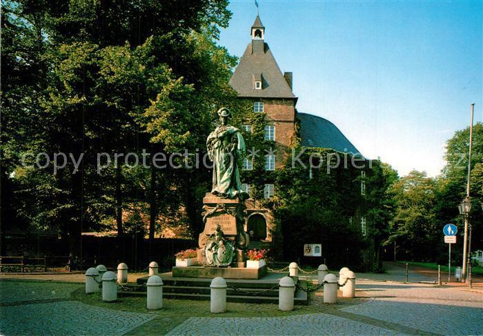 AK / Ansichtskarte Moers Schloss mit Denkmal Luise Henriette Moers