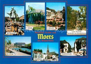 AK / Ansichtskarte Moers Am Neumarkt Schloss Altmarkt Denkmal Luise Henriette Kurfuerstin Am kgl Hof Kastellplatz Friedrichstr Moers