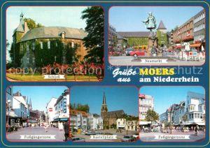 AK / Ansichtskarte Moers Schloss Neumarkt Fussgaengerzone Kastellplatz  Moers