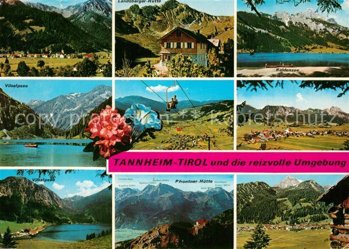 Tannheimer Tal Karte.Ak Ansichtskarte Tannheim Tirol Gesamtansicht Mit Alpenpanorama Vilsalpsee Berghuetten Sessellift Alpenflora Haldensee Tannheimer Tal Tannheim Tirol