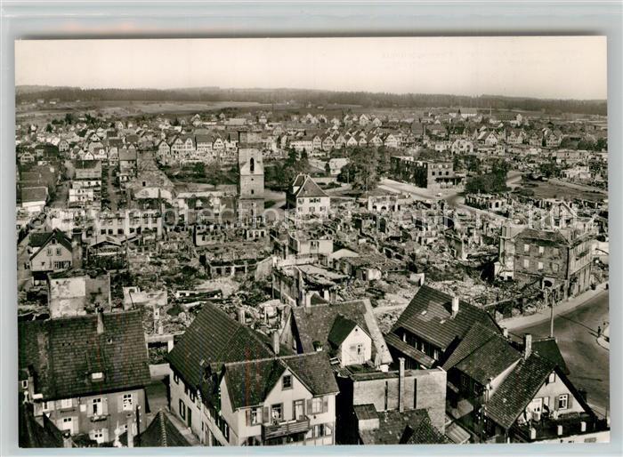 AK / Ansichtskarte Freudenstadt Nach der Zerstoerung 1945 Freudenstadt
