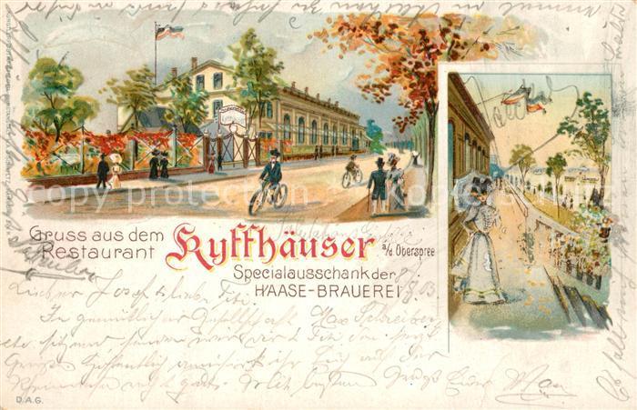 AK / Ansichtskarte Kyffhaeuser Specialausschanker Haase Brauerei  Kyffhaeuser