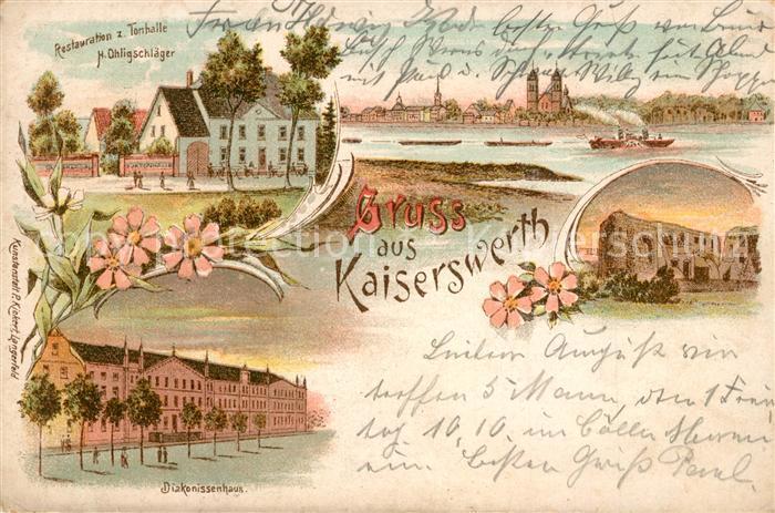 AK / Ansichtskarte Kaiserwerth Restaurant Tonhalle Diakonissenhaus  Kaiserwerth