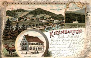 AK / Ansichtskarte Kirchzarten Gasthaus Hirschen Schauinsland Giersbergkapelle Kirchzarten