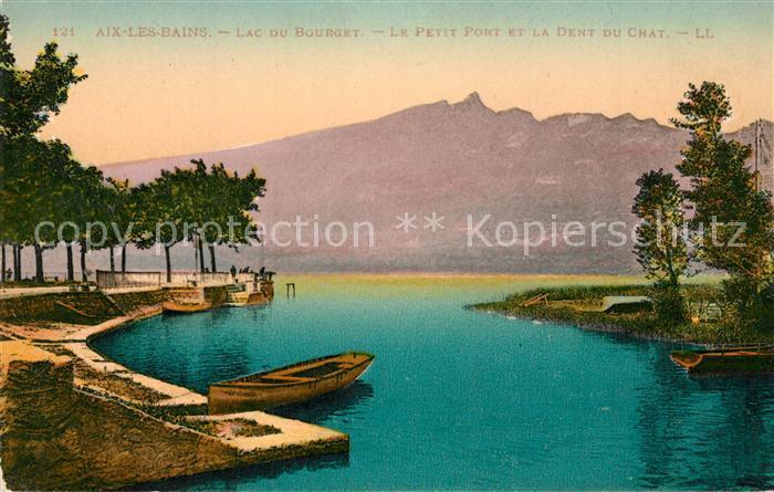 AK / Ansichtskarte Aix les Bains Lac du Bourget Petit Port Dend du Chat Aix les Bains