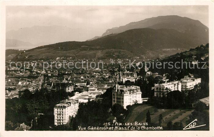 AK / Ansichtskarte Aix les Bains Panorama Massif de la Chambotte Aix les Bains