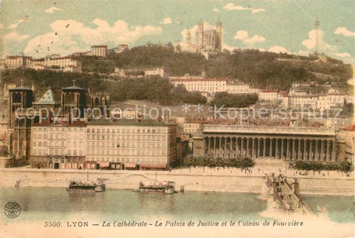AK / Ansichtskarte Lyon_France Cathedrale Palais de Justice  Lyon France