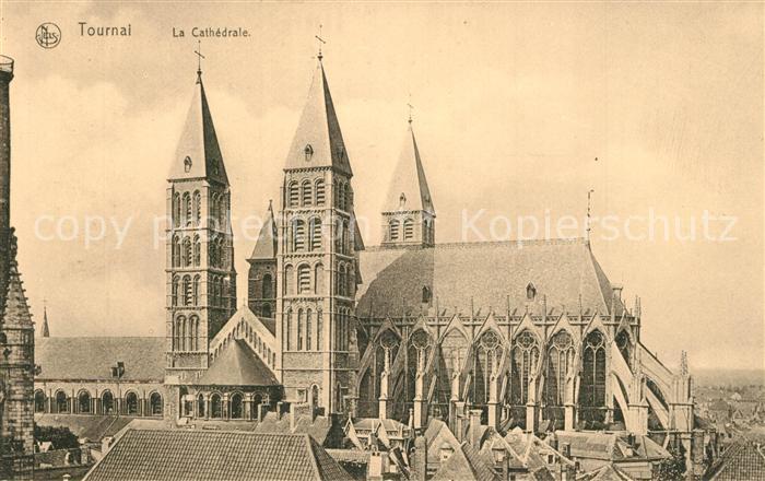 AK / Ansichtskarte Tournai Cathedrale Tournai