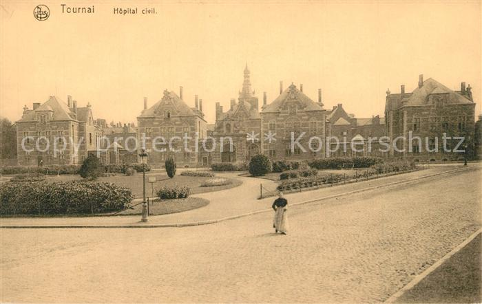 AK / Ansichtskarte Tournai Zivilkrankenhaus Tournai