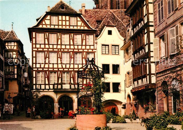 AK / Ansichtskarte Strasbourg_Alsace Place du Marche aux Cochons de Lait Strasbourg Alsace