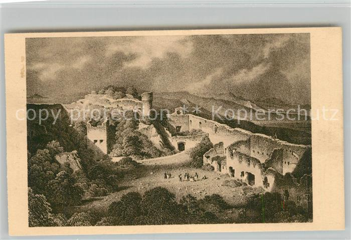 AK / Ansichtskarte Marbach_Haut Rhin Burg Hohlandsberg Schlosshof Marbach Haut Rhin