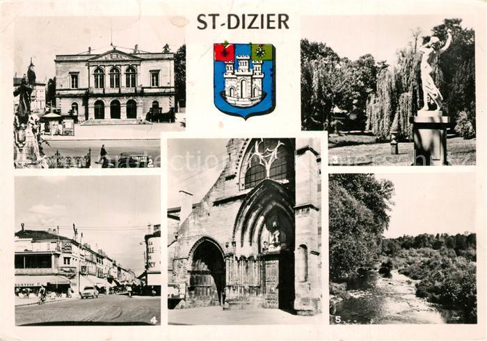 AK / Ansichtskarte Saint Dizier_Haute Marne Hotel de Ville Jardins de la Poste Place d`Armes  Saint Dizier Haute Marne