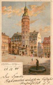 AK / Ansichtskarte Gera Rathaus Marktplatz Gera