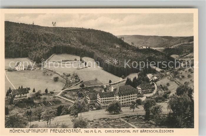 AK / Ansichtskarte Freudenstadt Christophsthal Bärenschlösschen Freudenstadt 0