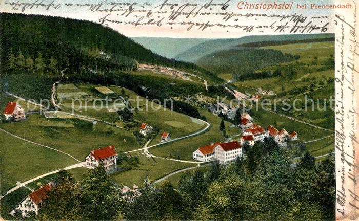 AK / Ansichtskarte Christophstal Panorama Blick ins Tal Christophstal