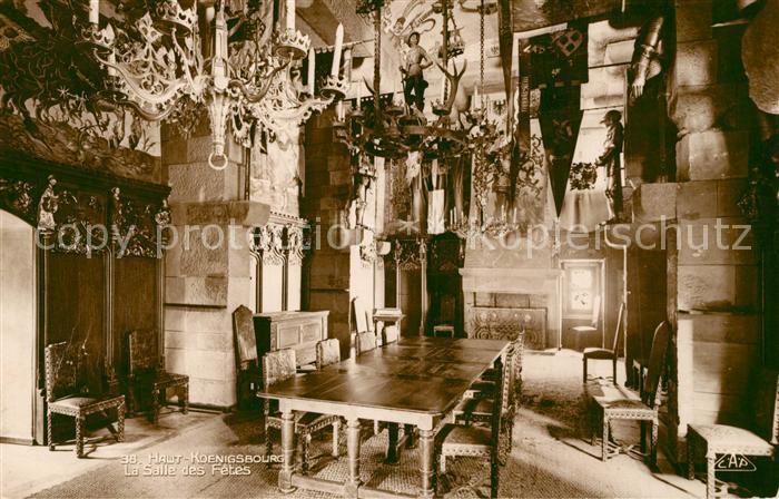 AK / Ansichtskarte Haut Koenigsbourg_Hohkoenigsburg La Salle des Fetes Haut Koenigsbourg