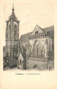 AK / Ansichtskarte Colmar_Haut_Rhin_Elsass Eglise Saint Martin St Martinskirche Colmar_Haut_Rhin_Elsass