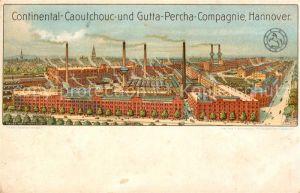 AK / Ansichtskarte Hannover Continental Caoutchouc  Gutta Percha Compagnie Hannover