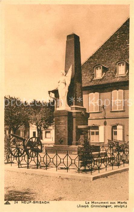 AK / Ansichtskarte Neuf Brisach Le Monument aux Morts Neuf Brisach