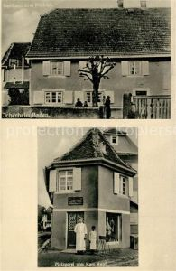 AK / Ansichtskarte Ichenheim Metzgerei von Karl Kopf Gasthaus zum Hirschen Ichenheim
