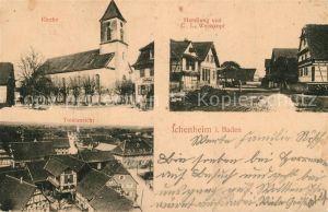 AK / Ansichtskarte Ichenheim Kirche Handlung von C. L. Weisskopf  Ichenheim
