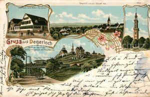 AK / Ansichtskarte Degerloch Aussichtsturm Gasthaus zum Ritter Zahnradbahn Degerloch