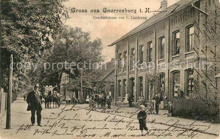 AK / Ansichtskarte Gnarrenburg Geschaeftshaus von L. Lieckweg Gnarrenburg