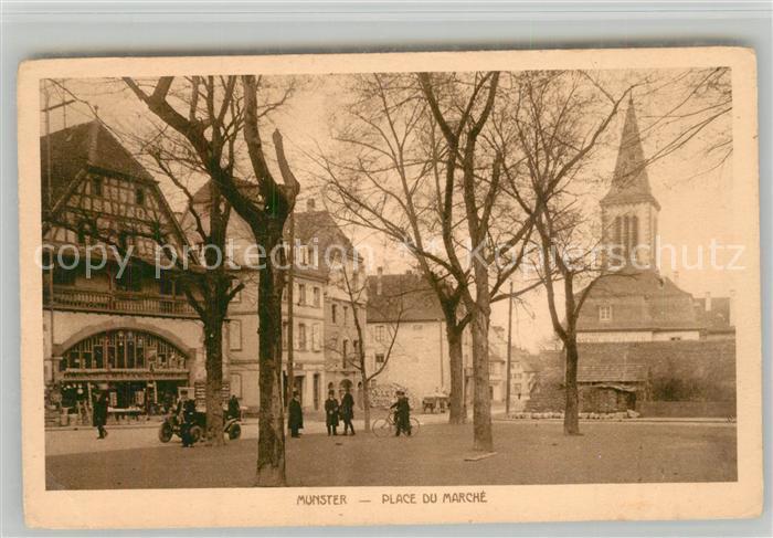AK / Ansichtskarte Munster_Haut_Rhin_Elsass Place du Marche Munster_Haut_Rhin_Elsass