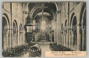 AK / Ansichtskarte Altkirch_Elsass St Morand Inneres der Wallfahrtskirche Altkirch Elsass