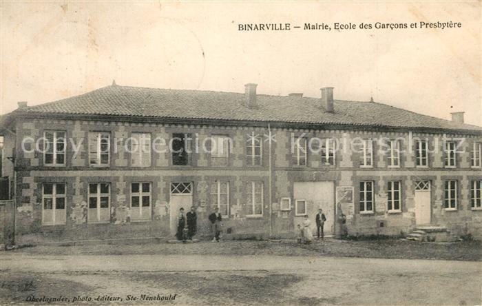 AK / Ansichtskarte Binarville Mairie Ecole des Garcons et Presbytere Binarville