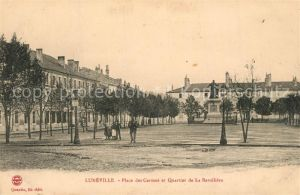 AK / Ansichtskarte Luneville Place des Carmes et Quartier de La Barolliere Luneville