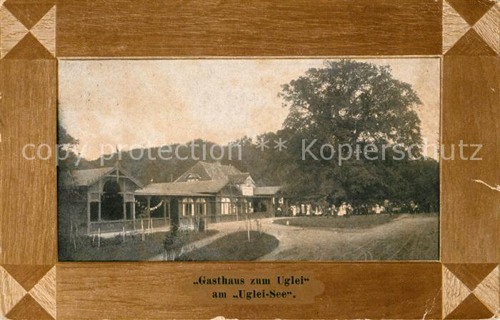 AK / Ansichtskarte Eutin Historisches Gasthaus zum Uglei am Ugleisee 600jaehrige Rieseneiche Bilderrahmen Eutin