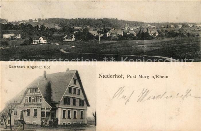 AK / Ansichtskarte Niederhof_Murg Gasthaus Allgaeuer Hof Niederhof Murg
