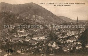 AK / Ansichtskarte Thann_Haut_Rhin_Elsass A gauche la Ruine Engelsbourg Auf fond la Rangen Thann_Haut_Rhin_Elsass