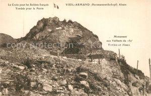 AK / Ansichtskarte Vieil_Armand_Hartmannswillerkopf La Croix pour les Soldats francais Tombes pour la Patrie Vieil_Armand
