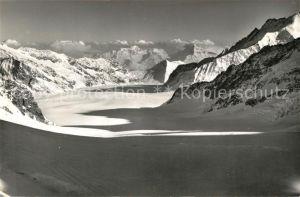 AK / Ansichtskarte Jungfraujoch mit Aletschgletscher Eggishorn Jungfraujoch