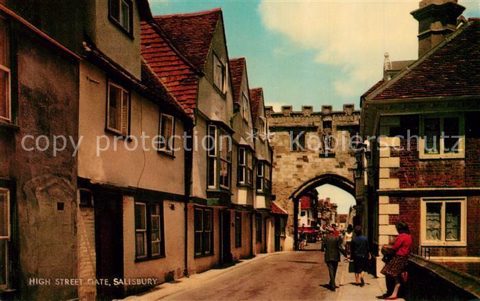 AK / Ansichtskarte Salisbury_Wiltshire High Street Gate