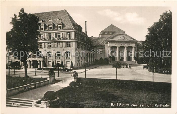 AK / Ansichtskarte Bad_Elster Sachsenhof Kurtheater Bad_Elster