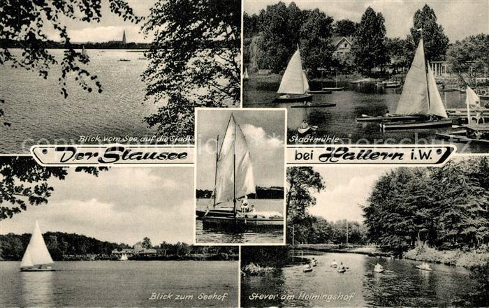 AK / Ansichtskarte Haltern_See Stausee Stadtmuehle Seehof Stever am Heimingshof Haltern See