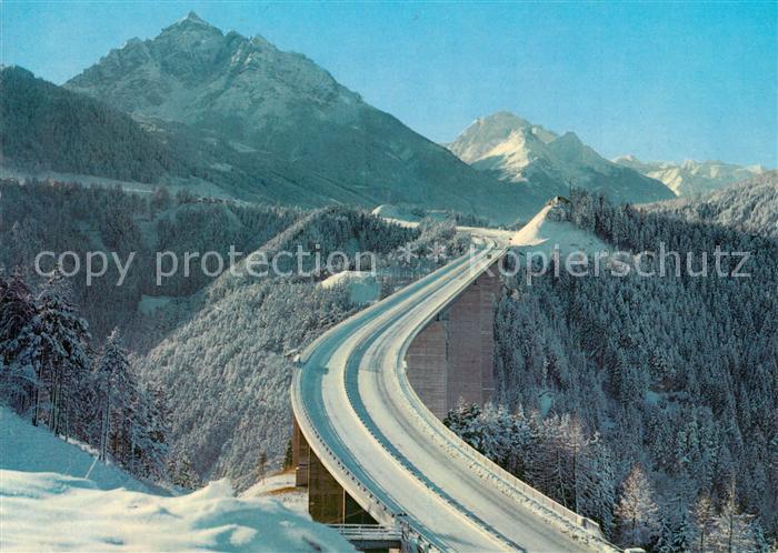 AK / Ansichtskarte Autobahn Brenner Europabruecke Serles Habicht Autobahn