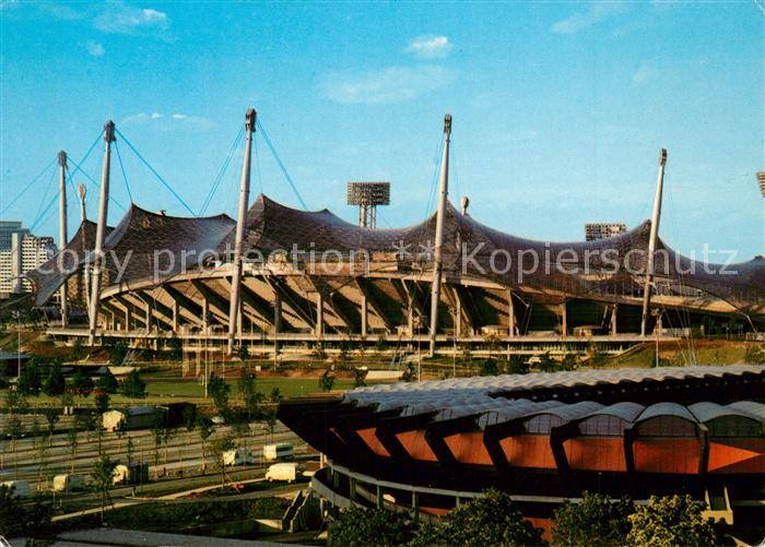 AK / Ansichtskarte Stadion Muenchen Olympiastadion Olympiapark Radstadion  Stadion