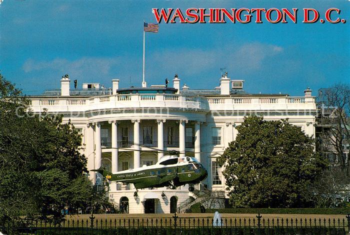 AK / Ansichtskarte Hubschrauber_Helikopter Washington D.C. The White House President Helicopter  Hubschrauber Helikopter