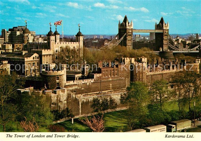 AK / Ansichtskarte London Tower of London Tower Bridge  London