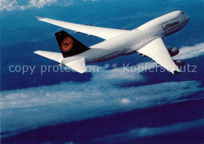 AK / Ansichtskarte Lufthansa Boeing 747 400 Lufthansa