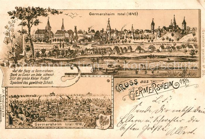 AK / Ansichtskarte Germersheim  Germersheim