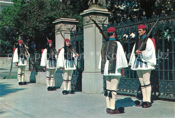 AK / Ansichtskarte Leibgarde_Wache Griechenland Evzonen Leibgarde Wache