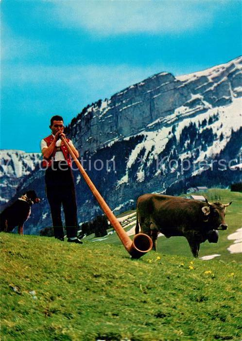 AK / Ansichtskarte Alphorn Alphornblaeser Fuerstentum Liechtenstein  Alphorn