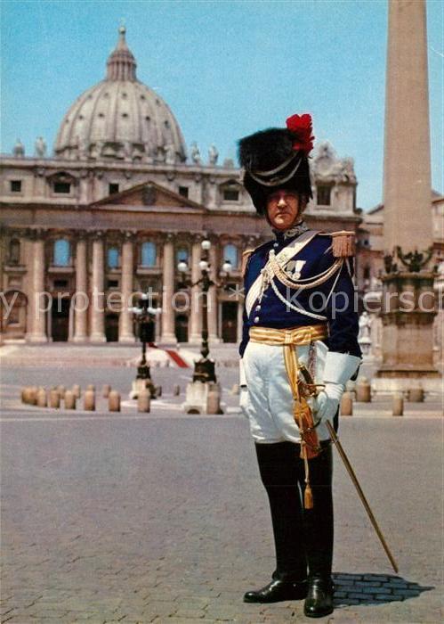 AK / Ansichtskarte Leibgarde_Wache Offizier Paepstliche Gendarmerie Vatikanstadt Leibgarde Wache