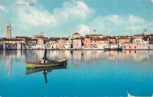 AK / Ansichtskarte Rab Arbe Ansicht vom Hafen aus Photochromiekarte No. 12532 Rab Arbe